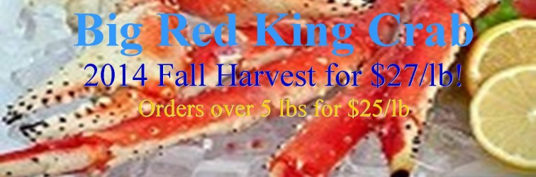 2014 Superior Most Recent Harvest Red King Crab